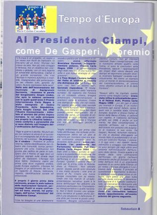 Il mio articolo sul Premio Carlo Magno