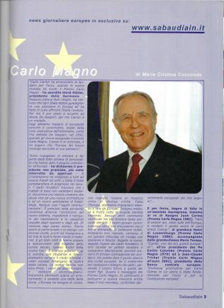 al Presidente Ciampi, Tempo d'Europa, luglio 2005
