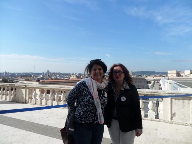 Con Marina sulla terrazza del Palazzo del Quirinale