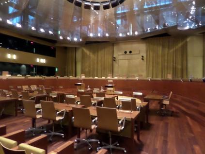 Aula di udienza, Corte di giustizia dell'UE