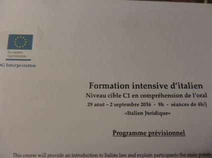 Il 1° corso intensivo di italiano giuridico allo SCIC