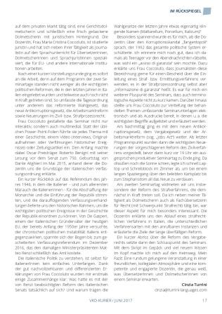 L'articolo a firma di Cinzia Turrini