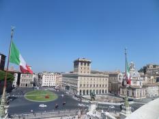 Piazza Venezia vista dall'Altare della Patria