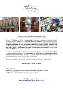 """""""L'italiano nel diritto e nella politica"""", IIC di Bruxelles"""