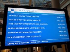 L'accoglienza alla European Commission Library
