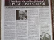 Il Presidente Mattarella scrive agli studenti italiani