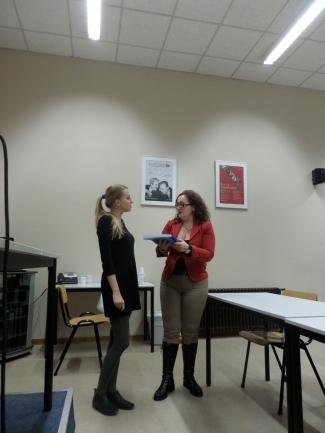 Un momento del Seminario con Brigitta Norvath