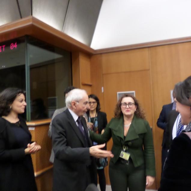 Chiacchiere europee con il presidente Amato al PE di Bruxelles