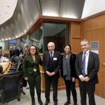 Con il Presidente e il Rappresentante permanente Massari
