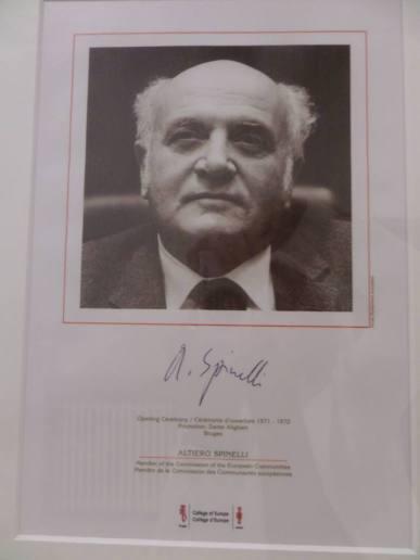 Altiero Spinelli al Collège d'Europe a Bruges
