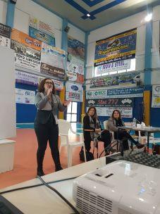 Con la delegata Emanuela Palmisani e la professoressa Annalisa Siniscalchi