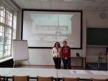 Con Caroline De Boisset, francese, parigina