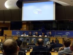 Al Parlamento europeo, con il presidente Tajani