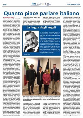"""""""PiùEuropei"""", Dicembre 2018"""