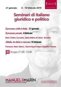I seminari di italiano giuridico e politico 2019