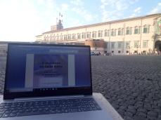 Il lavoro di preparazione a Roma in piazza del Quirinale