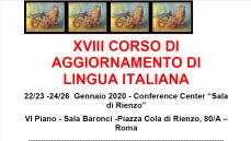 XVIII Corso di Aggiornamento di Lingua italiana