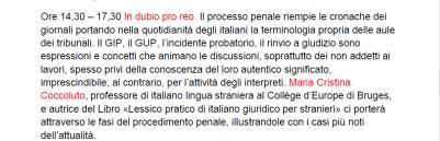 """""""In dubio pro reo"""", il mio intervento sul processo penale in Italia"""