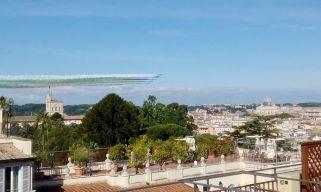 Ecco le Frecce Tricolori! Tra Quirinale e Vaticano