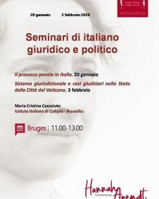 Seminari di italiano giuridico e politico